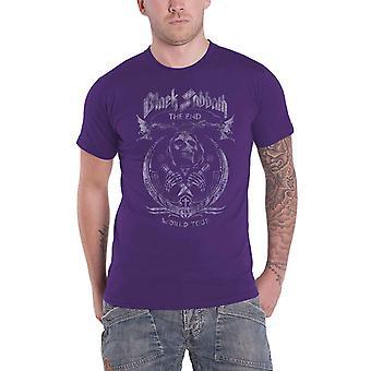 أسود السبت تي قميص نهاية الفطر سحابة الفرقة شعار جديد الرسمية الرجال الأرجواني