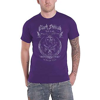 Black Sabbath T Shirt The End Mushroom Cloud Band Logo new Official Mens Purple
