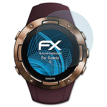 atFoliX Glass Protector compatibil cu Suunto 5 Glass Protective Film 9H Hybrid-Glass