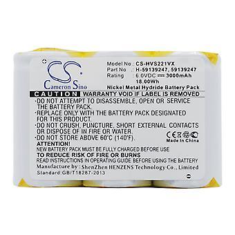 Bateria de vácuo para Hoover 59139247 H-59139247 S2211 S2211-100 CS-HVS221VX 3000mA