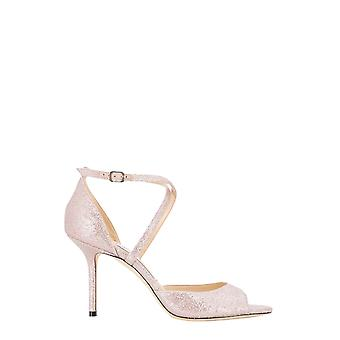 Jimmy Choo Emsy85gibballetpink Women's Pink Leather Sandals