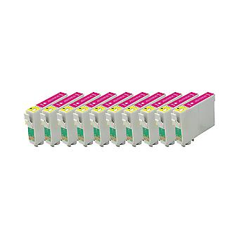 RudyTwos 10x Replacement for Epson Parasol Ink Unit Magenta Compatible with Stylus C64, C64 Photo Edition, C66, C66 Photo Edition, C68, C84, C84N, C84WN, C84 Photo Edition, C86, C86 Photo Edition, CX3