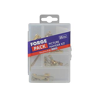 Forgefix Picture Hook Kit Forge Pack 28 Piece FORFPPICTSET