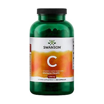 Vitamin C With Rose Hips Extract 1000 mg 250 capsules