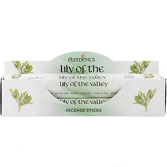 Elements Lily Of The Valley Incense Sticks (6 Packs)