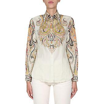 Etro 190309044800 Women's Beige Cotton Shirt