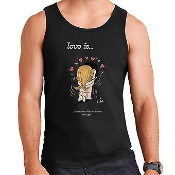 Rakkaus on, kun yksi suudelma ei koskaan riitä men's liivi