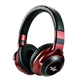 HANXI Wireless Headphones Bluetooth Wireless Headphones 3D Stereo Gaming Red