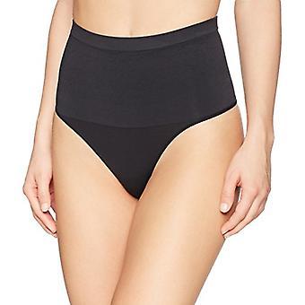 Brand - Arabella Women's Matte and Sheer Seamless Shapewear Bikini, Bl...