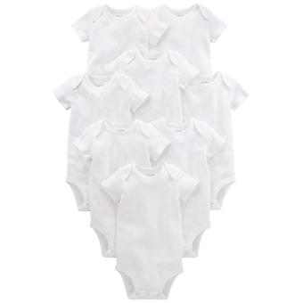 Simple Joys by Carter's Baby 8-Pack Short-Sleeve Bodysuit, White, 12 Months
