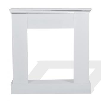 Rebecca Furniture Decorative Frame Fireplace Contemporary White Wood 98x92x23