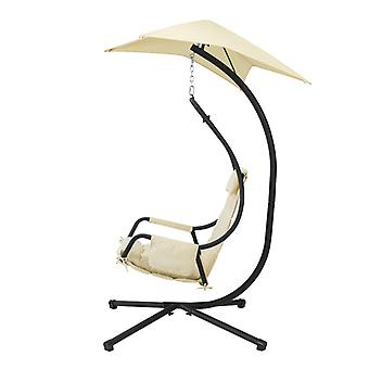 SoBuy OGS53-MI, Interior Outdoor Garden Patio Swing silla hanging chair hamaca con cojín y sombrilla