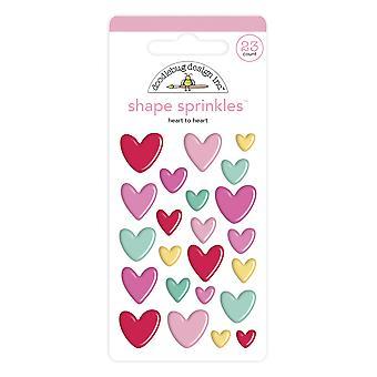 Doodlebug Design Heart to Heart Shape Sprinkles (23pcs) (6576)