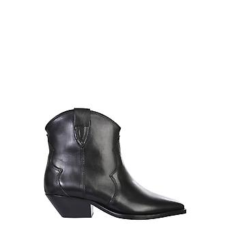 Isabel Marant Bo017420a021s01bk Women's Black Leather Ankle Boots