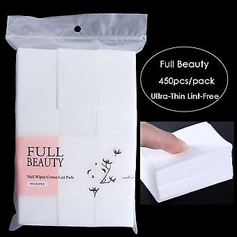Full Beauty Nail Polish Remover Wraps Pure Cotton Paper Wipe Degreaser Pads Soak Off Lint Free Napkins