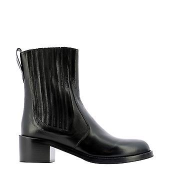 Guglielmo Rotta 5835dtoledoblack Women's Black Leather Ankle Boots