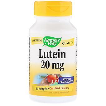 Nature-apos;s Way, Lutéine, 20 mg, 60 Softgels