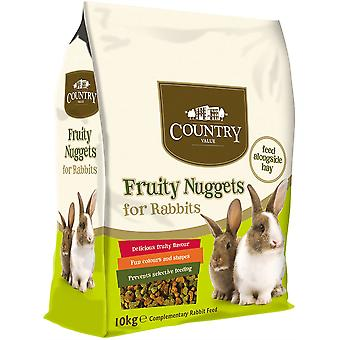Country Value Fruity Nuggets for Rabbits - 10kg