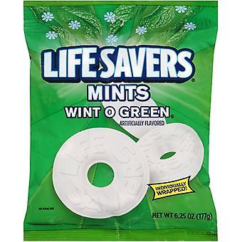 שומרי החיים מנטה Wint O ירוק ממתק קשה בנפרד
