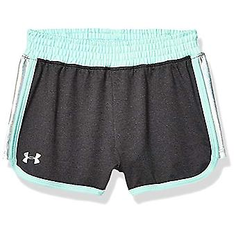 Under Armour Girls' Toddler Record Breaker Short, Asphalt Heather-S19, 3T