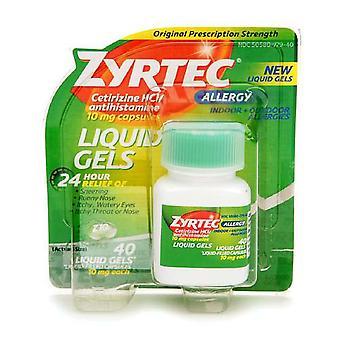 Zyrtec 24 hodín alergie tekuté gély, 10 mg, 40 ea *