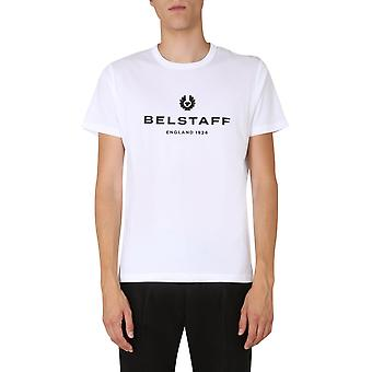 Belstaff 71140319j61n0103100000 Men'camiseta de algodão branco