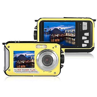 Waterproof-Digital Camera Full-HD Underwater-Camera 24 MP Video-Recorder Selfie Dual-Screen DV Recording Camera R29