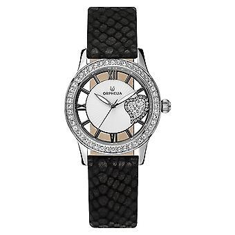 ORPHELIA naisten analoginen kello musta nahka OR11704