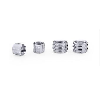 5pieces Inner Outer Threaded Hollow Tube Coupler Conveyer Sliver-adaptateur Vis