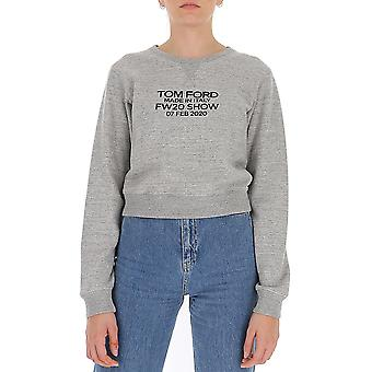 Tom Ford Flj007fax769xiglb Frauen's grau Baumwolle Sweatshirt