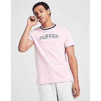 New Duffer Men's Oxford Short Sleeve T-Shirt Pink