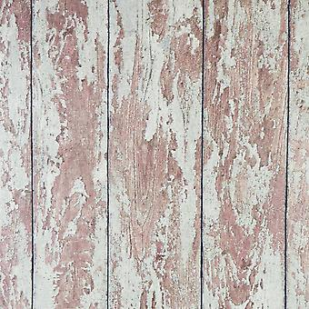 Distressed Wooden Panel Wallpaper Painted Wood Effect Vinyl Paste The Wall