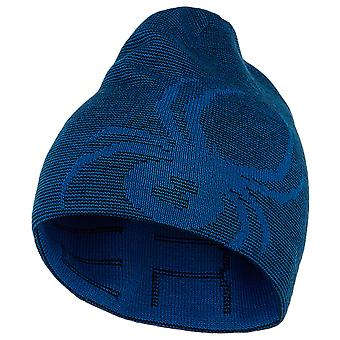 Spyder REVERSIBLE BUG Kids Ski Hat - Bleu