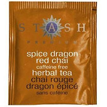 Stash Tea Spice Dragon Red Chai Tea Caffeine Free, 18 Bags