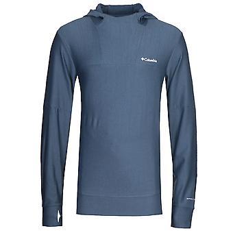 Columbia Maxtrail Midlayer Blue Hooded Sweatshirt