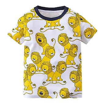 Baby & Dinosaur Pattern T-shirt Set