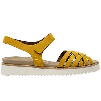 Sandal Donna Benvado Ellen Yellow In Suede