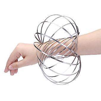Pulseira Mágica/primavera cinética do anel de fluxo engraçado, 304 aço inoxidável