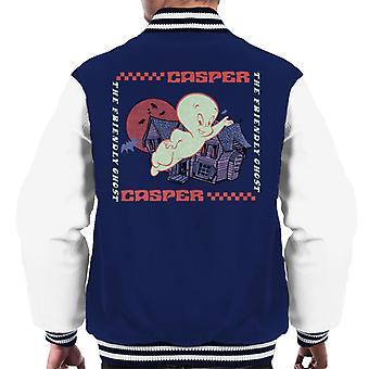 Casper The Friendly Ghost Check Square Men's Varsity Jacket