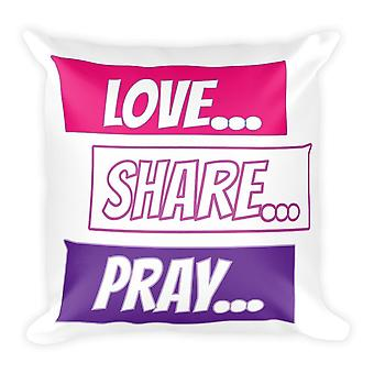 Kærlighed Del Pray Chat - Pillow Cover