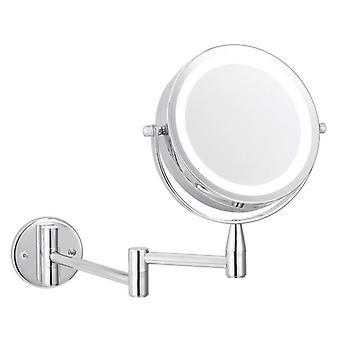 Miroir de maquillage réglable monté par mur de grossissement