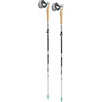 Leki MCT 12 Vario Lady Cross Trail Poles (Black/White/Blue) (Pair) - Black/White/Blue
