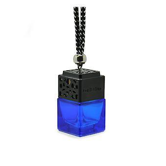 Designer em Carro Air Freshner Difusor Fragrância De Óleo ScentInspiBlue By (Viktor & Rolfe Spicebomb For Her ) Perfume. Tampa Preta, Garrafa Azul 8ml