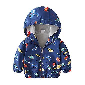 Manteau à capuchon de veste d'enfant d'automne de garçon, vêtement d'outerwear, coupe-vent de printemps