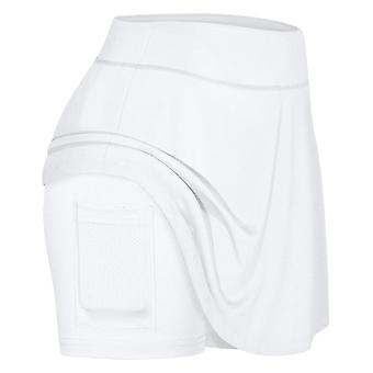 Women's Tennis Skirts, Run Yoga Inner Shorts, Elastic Sports Golf Pockets,