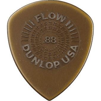 Jim dunlop 549p0.88 flow standaard grip picks, 88 mm, set van 6 stuks .88mm speler pack 6 picks