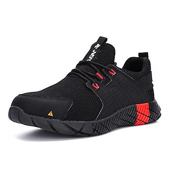 Mannen Veiligheid Werkschoenen, ademende lichte stalen teen laarzen, anti-smashing