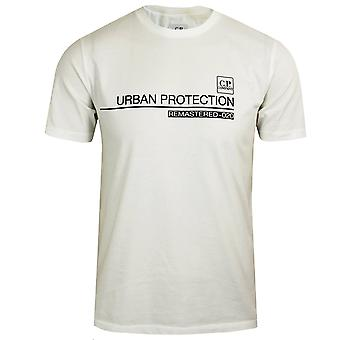 C.p. company men's off white urban protection jersey 30/1 t-shirt