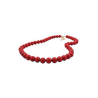 Collier Bead Chain 10mm Perles Rouge/Noir