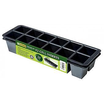 Premium 12 Zelleinsätze Pack von 2 für Pflanzen Gartenarbeit